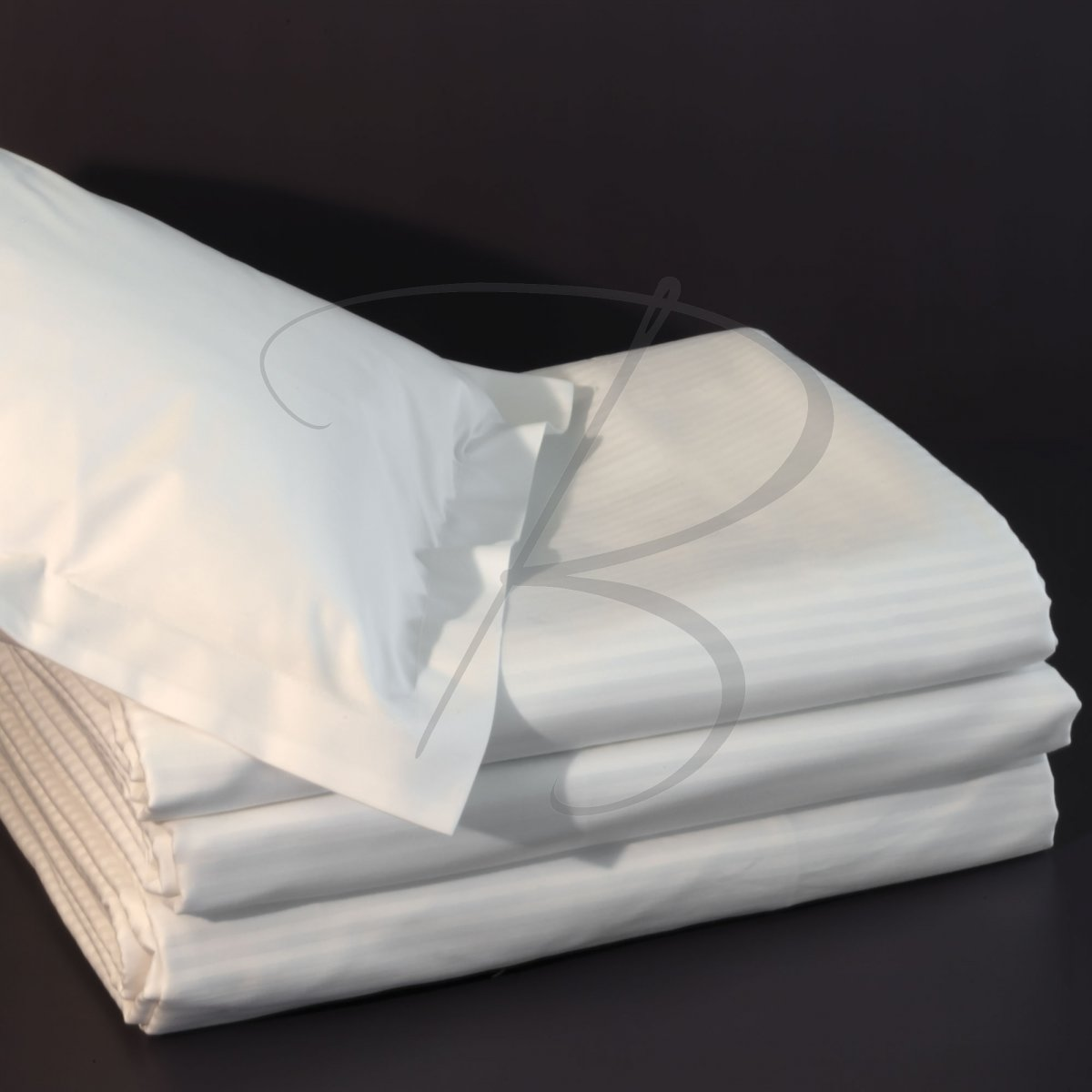 Cotton percale fitted sheet 1900 - 90 x 200 - 120g/m² - 200TC