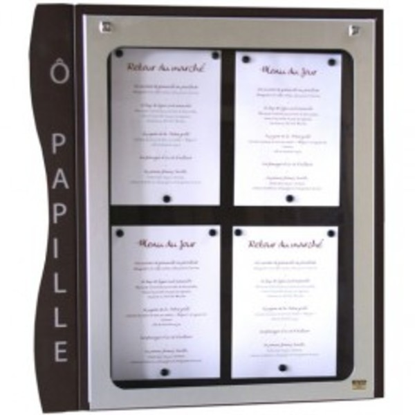 Menu holder Cevennes 4 pages A4 wall mounting